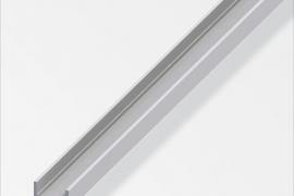 Profiil U 10x19,5x1,5mm anodeeritud alumiinium hõbe 1m