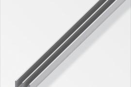 Profiil E 10x6+6x1,3mm anodeeritud alumiinium hõbe 1m