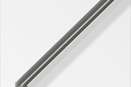 Profiil E 10x6x1mm plastik valge 1m