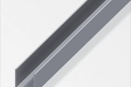 Profiil U 23,5x23,5x1,5mm alumiinium naturaalne 2,5m