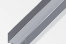 Profiil U 15,5x27,5x1,5mm  alumiinium naturaalne 1m