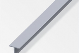 Profiil T 11,5x11,5x1,5mm  alumiinium naturaalne 1m