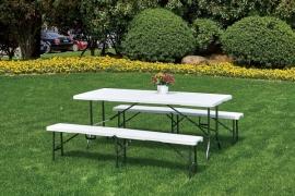Kokkupandava laua ja pinkide komplekt Almera