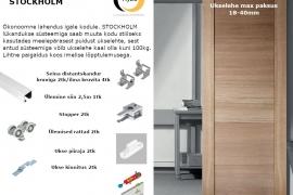 STOCKHOLM lükandukse komplekt 1-le uksele