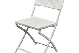 Kokkupandava tool rotang viimistlusega valge