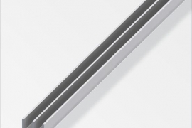 Profiil E 6x6+6x1,3mm anodeeritud alumiinium hõbe 1m