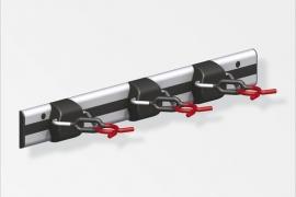 X-star 3 nagi reelingul 500mm alumiinium naturaalne punane