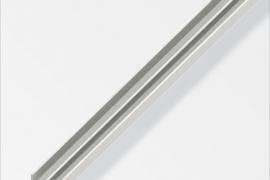 Profiil E 6x6x1mm  plastik valge 1m