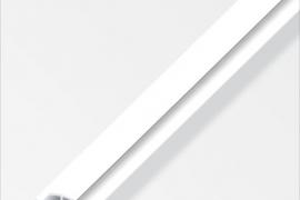 Profiil H 4x25x1mm  plastik valge 1m
