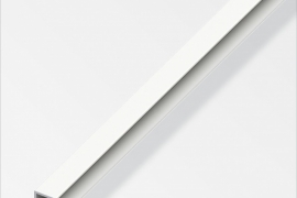 Profiil serv 4x15x1mm  plastik valge 1m