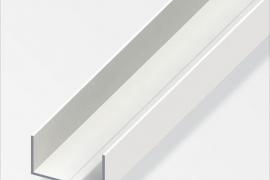 Profiil U 11,5x19,5x1,5mm alumiinium pulbervärvitud valge 2,5m xxx
