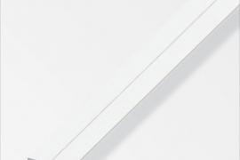 Latt 19,5x2mm plastik valge 1m