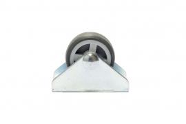 Mööbliratas fikseeritud prof 30mm teras/plastik