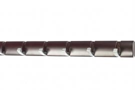 Nagi 6 reguleeritava nikkel konksuga pähklivärvi männipuidust plaadil xxx
