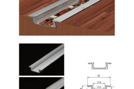Alumiinium profiil LED valgusribale 22x6mmx2m, süvistatav xxx