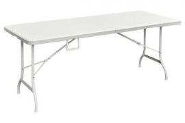 Kokkupandav laud rotang viimistlusega valge