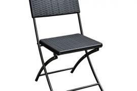 Kokkupandav tool rotang viimistlusega, must